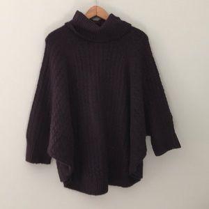 Lou & grey purple batwing turtleneck sweater